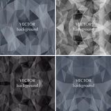 Black background set abstract polygon triangle vector. Fashion b Royalty Free Stock Images