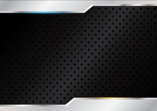 Black background with steels. Vector illustration Royalty Free Stock Images