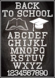 Black background with stylish alphabet for back to school Stock Photo