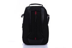 Black backpack isolated stock photos