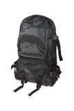 black backpack isolated on white Royalty Free Stock Photography