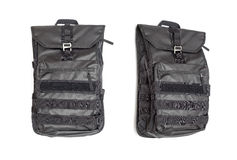 Black backpack Stock Images