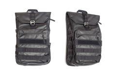 Black backpack Stock Images
