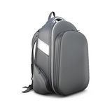 Black backpack isolated on white Royalty Free Stock Images