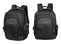 Black backpack isolated on white with clipping path Royalty Free Stock Images