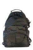 Black backpack standing Stock Image