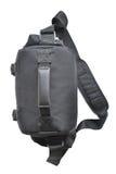 Black bag digital camera. The black bag digital camera is on the white background Stock Photography