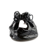 Black bag with heart pendant Stock Image