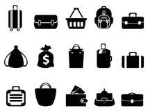 Black bag icons set Stock Images
