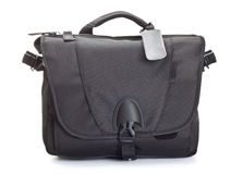 Black bag for photo accessories Stock Photos