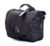 Black bag for photo accessories Stock Photography