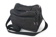 Black bag on white background. Black bag for luggage on white background Stock Images