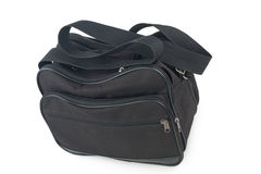 Black bag on white background. Black bag for luggage on white background Stock Image