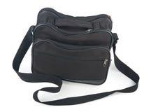 Black bag on white background. Black bag for luggage on white background Stock Photo