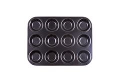 Black baking pan isolated on white background. Black baking pan isolated on a white background Royalty Free Stock Photography