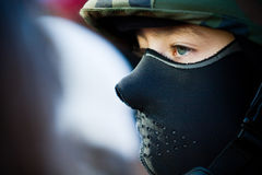 Black balaclava Royalty Free Stock Photography