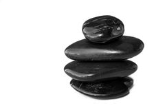 Black balance stones Royalty Free Stock Images