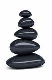 Black Balanced pebbles Stock Photography