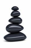 Black Balanced pebbles Stock Photography
