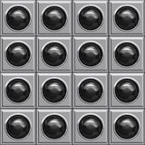 Black ball boxes Stock Image
