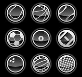 Black ball icons Stock Image