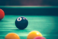Black ball number eight Stock Images