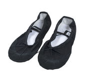 Black Ballet Slippers Stock Images