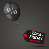 Black Balloon Percent Black Friday Price Sticker Royalty Free Stock Images