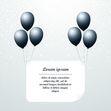 Black balloons Vector illustration Stock Images