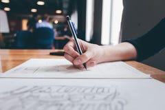 Black Ballpoint Pen Stock Images