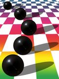 Black balls Stock Photos