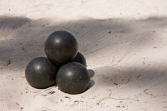 Black Balls Stock Images