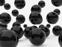 Black balls Stock Photography