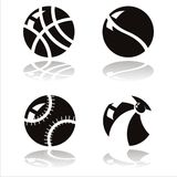 black balls icons Royalty Free Stock Photography