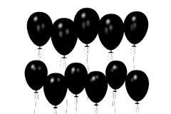 Black baloons... Stock Photo