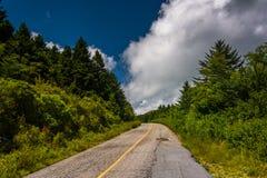Black Balsam Knob Road, near the Blue Ridge Parkway Royalty Free Stock Photos