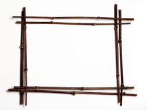 Black Bamboo Frame W/copyspac Stock Photos