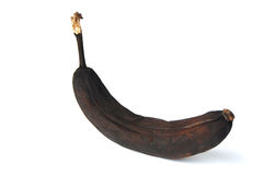 Black banana. On with background Royalty Free Stock Photos