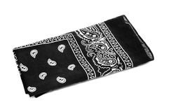 Black bandana handkerchief Royalty Free Stock Photo