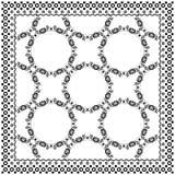 Black Bandana Print design. Fabric pattern for silk scarf. Royalty Free Stock Photos