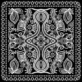 Black Bandana Print, silk neck scarf or kerchief Royalty Free Stock Photography
