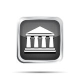 Black bank icon Royalty Free Stock Photos