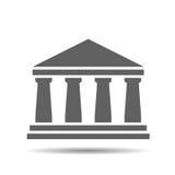 Black bank icon Stock Photos