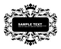 Black banner Royalty Free Stock Images
