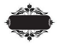 Black banner Royalty Free Stock Photo