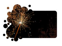 Black banner with realistic firecracker Royalty Free Stock Image