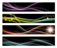 Black Banners. Black elegant banners for web or print usage Stock Image