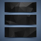 Black banners templates. Abstract backgrounds Stock Image