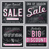Black  banners with sale offer, vector Royalty Free Stock Photo