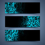 Black banners templates. Abstract backgrounds Stock Photo